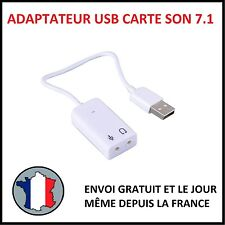 CORDON USB 2.0 CARTE SON EXTERNE 7.1 AUDIO 3D VIRTUAL STEREO PC MAC ADAPTATEUR B