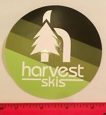 "HARVEST CUSTOM SKIS Sticker 4"" Decal Ski Tele Steamboat Colorado"