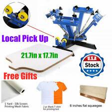 Local Pick Up 4 Color 1 Station Screen Printing Press Diy T Shirt Press Printer
