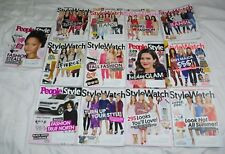 LOT 13 PEOPLE STYLE WATCH MAGAZINES CELEBRITIES FASHION OUT OF PRINT 2016-2018