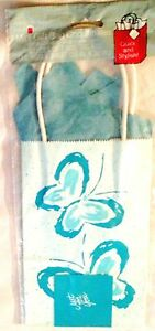 """Blue Print 5X9"""" Butterfly  AMERICAN GREETINGS Gift Loot Bag With Tissue & Tag"""