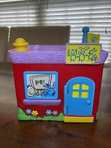 Vintage Mattel 2000 Blues Clues School House WORKS No Handle House Only