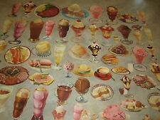 Huge Wholesale Lot 700 Old Vintage 1950's Ice Cream Soda Fountain Paper Diecuts