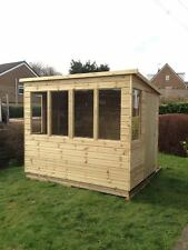 8x6 SUN PENT POTTING SHED T&G TANALISED WOODEN GREENHOUSE SUMMERHOUSE