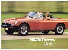 MG 1975-76 UK Market Sales Brochure Midget 1500 MGB Roadster GT & V8