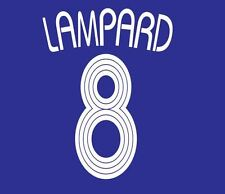 Lampard #8 Chelsea 2006-2008 HOME CHAMPIONS LEAGUE maglietta da calcio Nameset per