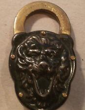 Original Lion-Face PadLock-1886-Ex. Condition-Ultra Rare