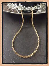 Collier Maille Palmier En Plaqué Or 18 carats 45CM X 4MM Bijoux Femme
