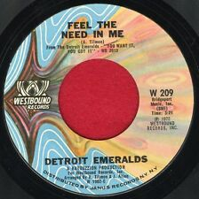 "DETROIT EMERALDS ""Feel The Need In.. / There's A Love..."" Westbound 209 EX Soul"