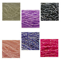 140 x Small faceted glass crystals beads fire polished jewellery craft 3.5x3mm