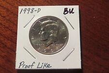 1998-D Kennedy Half Dollar (BU) - PROOF LIKE FINISH!