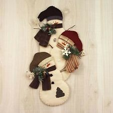 Countryside Crafts Snowmen Trio Sewing Craft PATTERN - Felt Reindeer Christmas