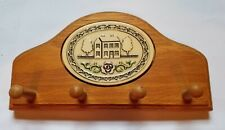 Trinity Pottery House Plaque on Wooden Wall Mount Key Holder