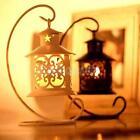 White/Black Hanging Moroccan Tea Light Candle Holder Lantern Candlestick Wedding