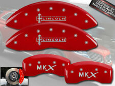 "2011-2015 ""Lincoln MKX"" Front + Rear Red MGP Brake Disc Caliper Covers 4pc Set"