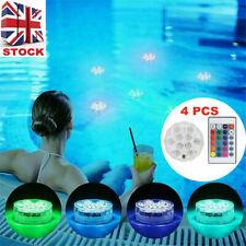 More details for 4x led submersible lights waterproof hot tub underwater lights swimming pond led