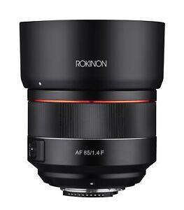 Rokinon 85mm F1.4 AF High Speed Full Frame Telephoto Lens (Nikon F)