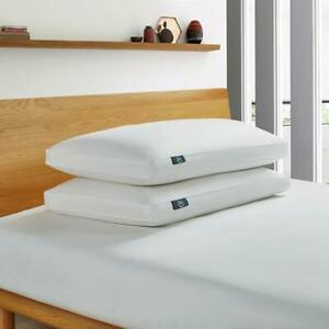 Serta Down Fiber Bed Pillow King Size 233-Thread Count Cotton White (2-Pack)