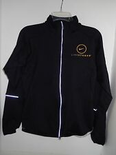Nike Live Strong Full Zip Women Size Medium M Black