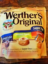 Werther's Original Sugar Free Hard Candies Assortment 7.7oz Coffee Apple Caramel