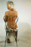 Framed Print - Marilyn Monroe Sat Naked on a Chair (Picture Poster Art Film)