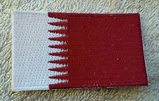 QATAR FLAG PATCH Embroidered Badge Iron Sew on 3.8cm x 6cm دولة قطر Persian Gulf
