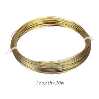 Gold Car Auto Windscreen Window Glass Cutting Out Braided Removal Wire Steel 20m
