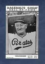 "HONUS WAGNER, Pirates""An Exhibit Card Baseball's Great Hall of Fame""w/statistics"