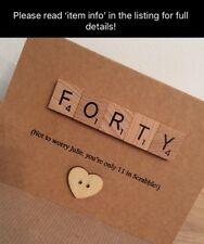 Scrabble Personalised Birthday Card 30th 40th 50th 60th 70th 80th 90th 100th