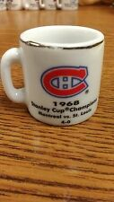 NHL STANLEY CUP CRAZY MINI MUG MONTREAL CANADIENS 1968 CHAMPS W/OPPONENT &SCORE