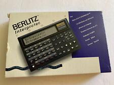 Berlitz Electronic Interpreter