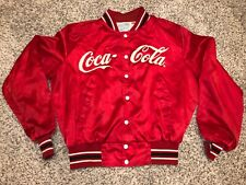 Rare Vintage Coca Cola Coke Employee Jacket Satin 80s Red Made In USA Upstream