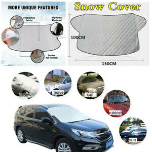 Universal Car Windshield Snow Cover Sun Shade Winter Ice Dust Frost Guard Sliver