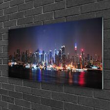 Glasbilder 100x50 Wandbild Druck auf Glas Stadt Wasser Gebäude