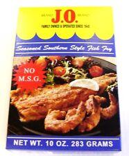 J.O. Brand Seasoned Southern Style Fish Fry Batter Mix 10 oz box (Not Old Bay)