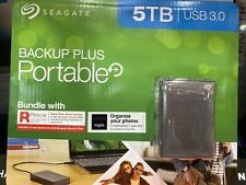 Seagate Backup Plus 5TB Portable Hard Drive USB 3.0, Rescue Data Recovery