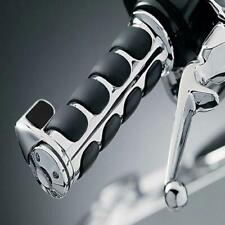 """Motorcycle Chrome 1"""" Handle Bar Hand Grips For Harley Davision Bobber Choppers"""
