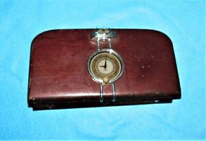 🔥 VINTAGE 1937 1938 FORD GLOVE BOX DOOR WITH STEMWOUND CLOCK LATCH & KEY