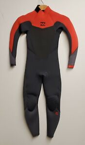 BILLABONG Youth 4/3 ABSOLUTE COMP BZ Wetsuit - ORG - Size 10 - NWT