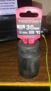 TEKTON 1/2-Inch Drive by 36 mm Deep Impact Socket 6-Point, 4936