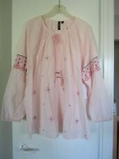 """$Reduced$ NWT ELLOS Swedish Embroidered Poet Blouse Shirt Top Womens 20 50"""" Bust"""