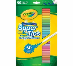 Crayola Supertips Washable Markers - Pack of 12, 24 & 50 Colouring Markers