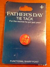 "Very Nice 5/8"" Red Enameled Pin #1 Dad"