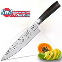 """Chef Knife 8"""" Inch Kitchen Japanese High Carbon Steel Meat Santoku Sushi Meat XL"""