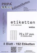 Folienetiketten 105 x 70 mm transparent matt 200 Sticker 105x70 wasserfest A4 25