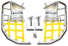 Suzuki LTR450 Ltr 450  Nerf Bars  Pro Peg Heel Gaurd  Alba Racing  Silver Yellow