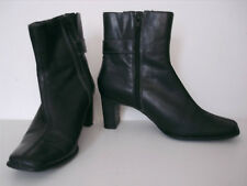 Size 4 DP Black ankle boots block heel & buckle