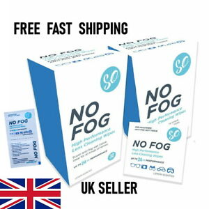 No Fog Lens Wipes Anti Fog Glasses Visor Camera Wipes Pack 30 Free UK Delivery