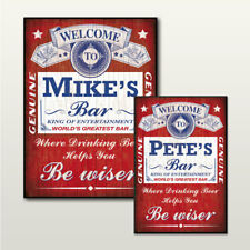 Large Personalised Beer Bar Party Drink Novelty Gift Wooden Hanging Plaque Sign.