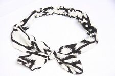 Black & White Super Soft Infinity Twist Casual Fun Young Flirty Headband (s46)